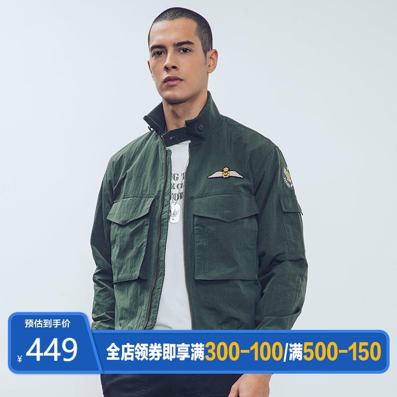 AK男装旗舰店2020春季新款G-8飞行员夹克男工装机能外套男士外衣