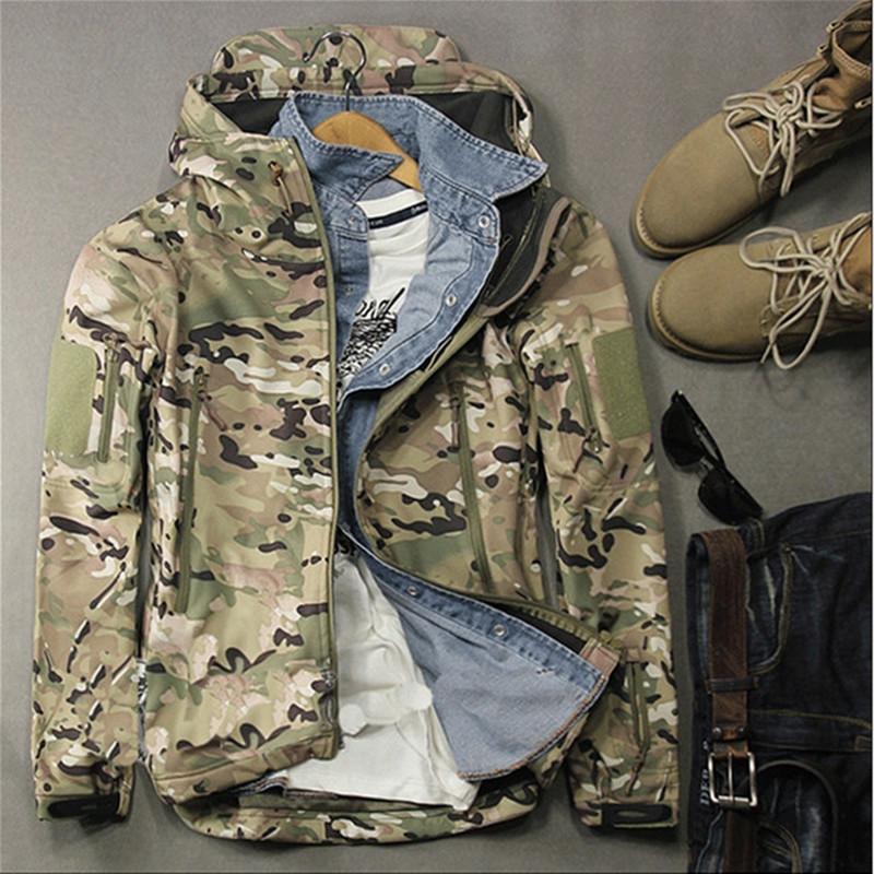 Peak sports outdoor camouflage assault suit mens and womens soft shell fleece spring windbreaker waterproof fishing mountaineering suit