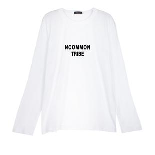纯棉2019秋冬新款白色t恤打底衫