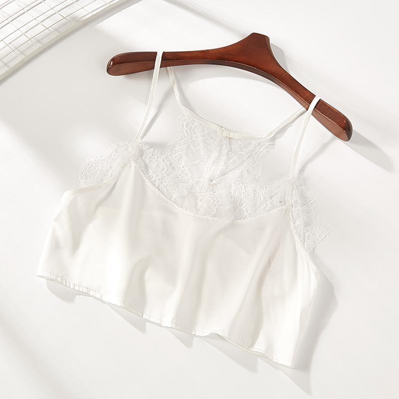 姐弟故事夏季新款蕾絲雪紡打底內搭性感小吊帶背心女002