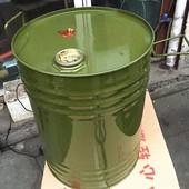 油桶加厚型便携式 50升汽油桶柴油桶铁皮油桶备用油箱 50L圆桶立式