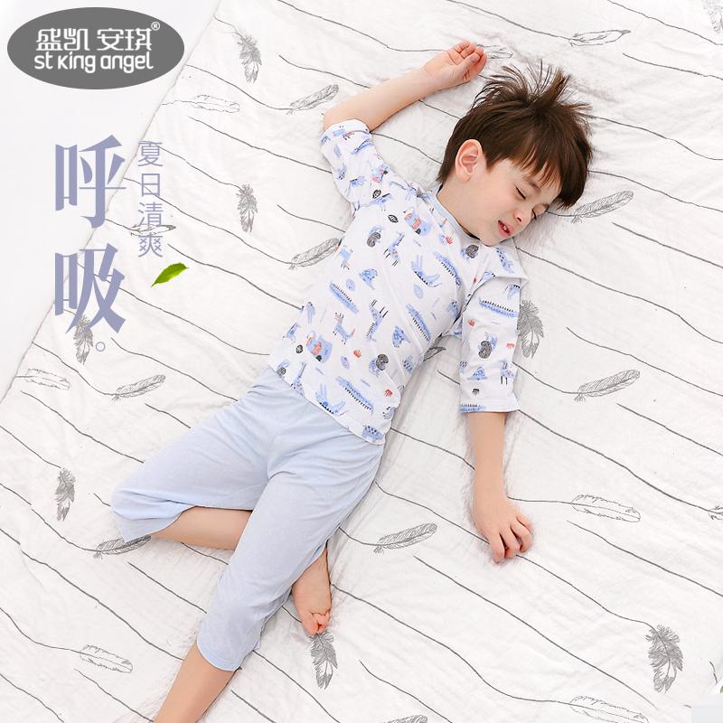 盛凯安琪夏季男孩短袖七分袖空调服(非品牌)