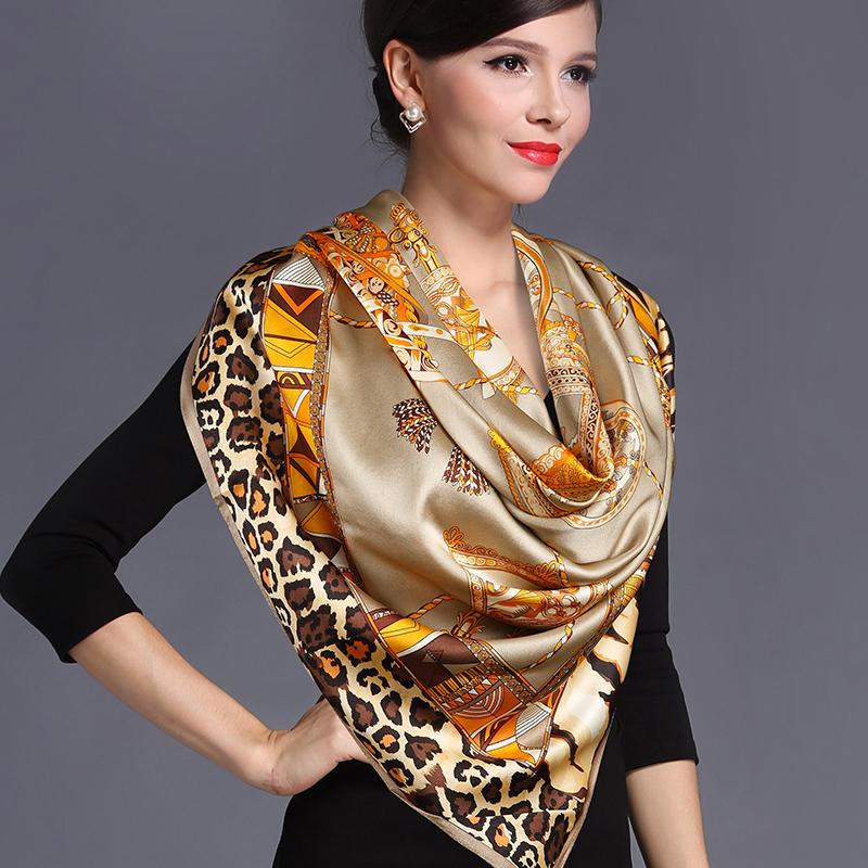 杭州丝绸超大重磅真丝围巾100%桑蚕丝大方巾秋冬女士丝巾大牌披肩