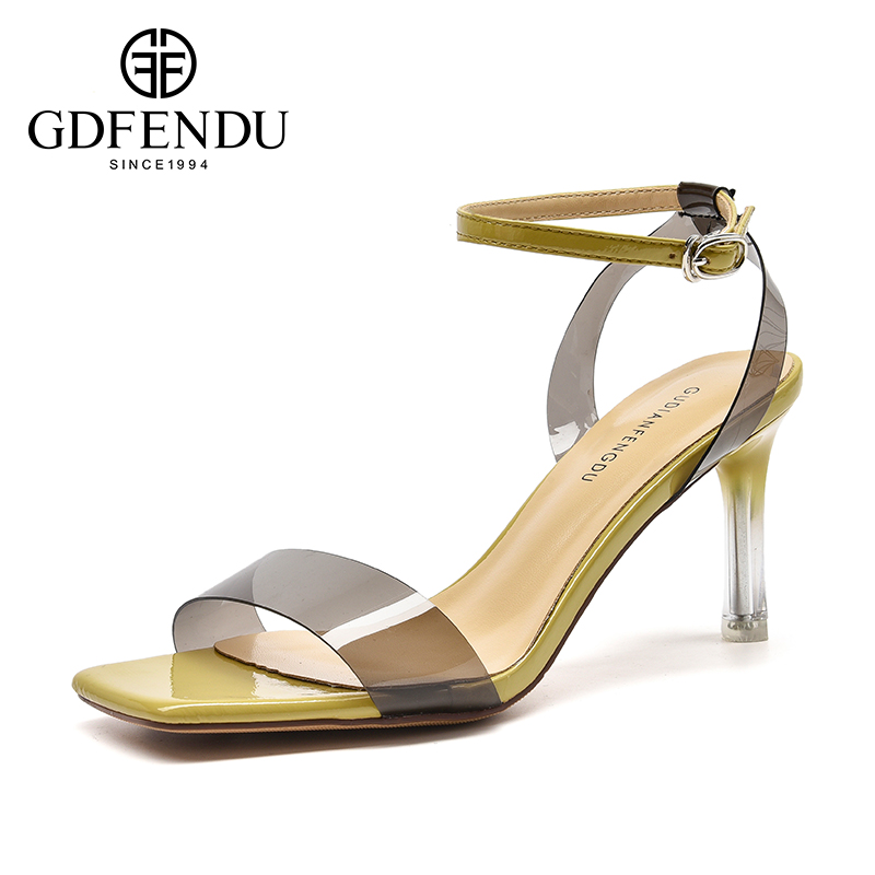 古典风度女鞋2019潮鞋单鞋夏季凉鞋细跟性感高跟一字带凉鞋女鞋子