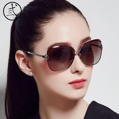 女士偏光太阳镜女潮2019明星款太阳镜防紫外线墨镜女新款个性圆脸