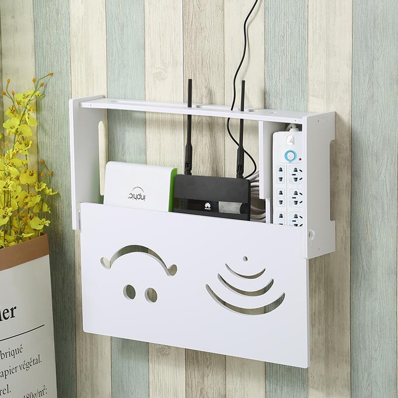 wifi收纳盒路由器收纳盒集线盒modem猫收藏盒可壁挂电线插排插座