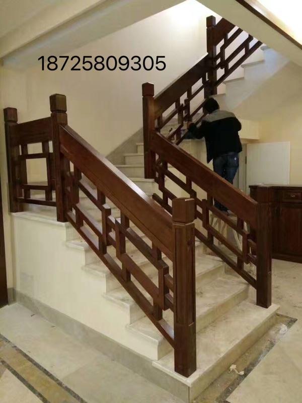 飘窗护栏室内楼梯扶手实木栏杆楼梯实木扶手欧式中式主材家装