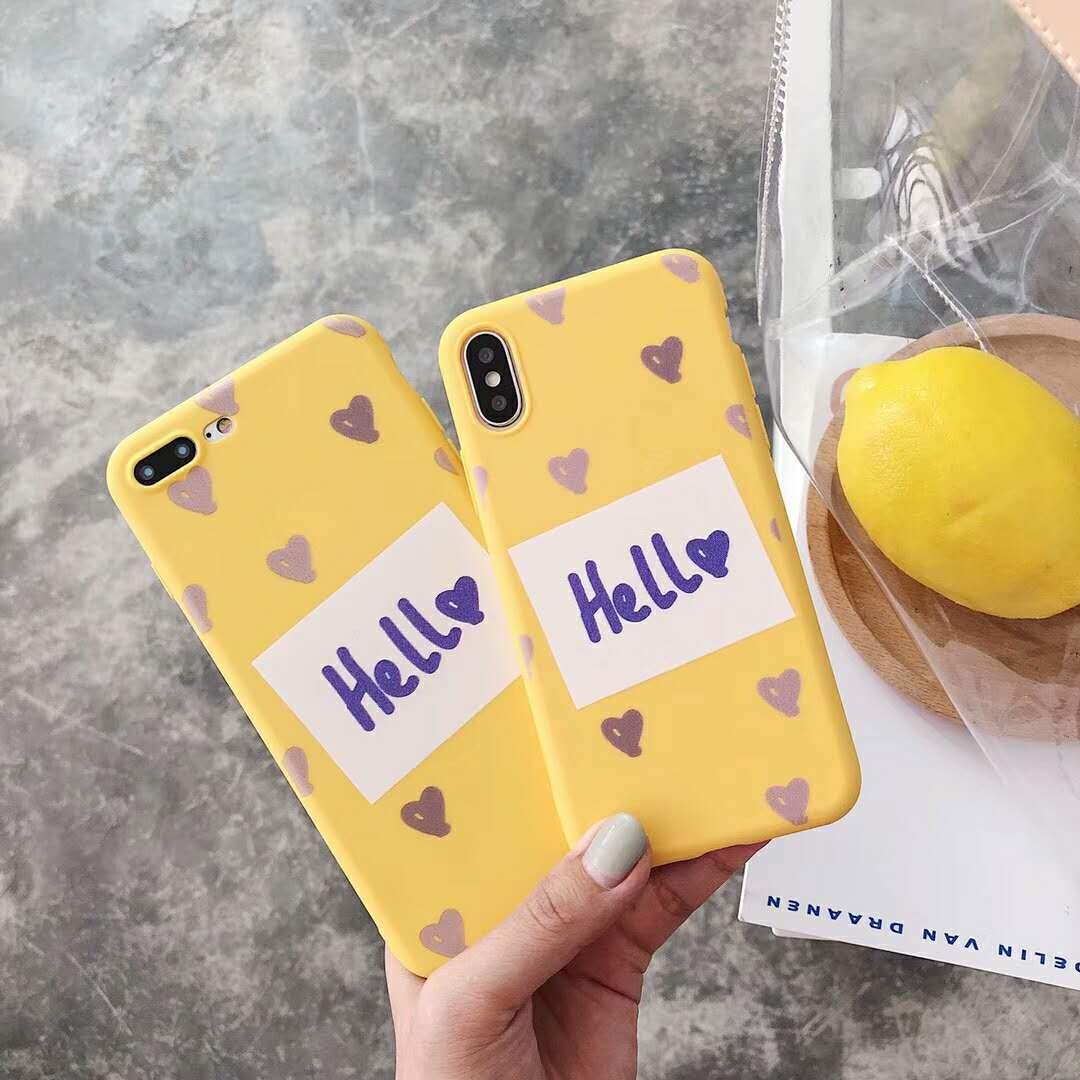 苹果x手机壳小清新情侣字母iphone8plus硅胶软壳7P韩国简约6S女款