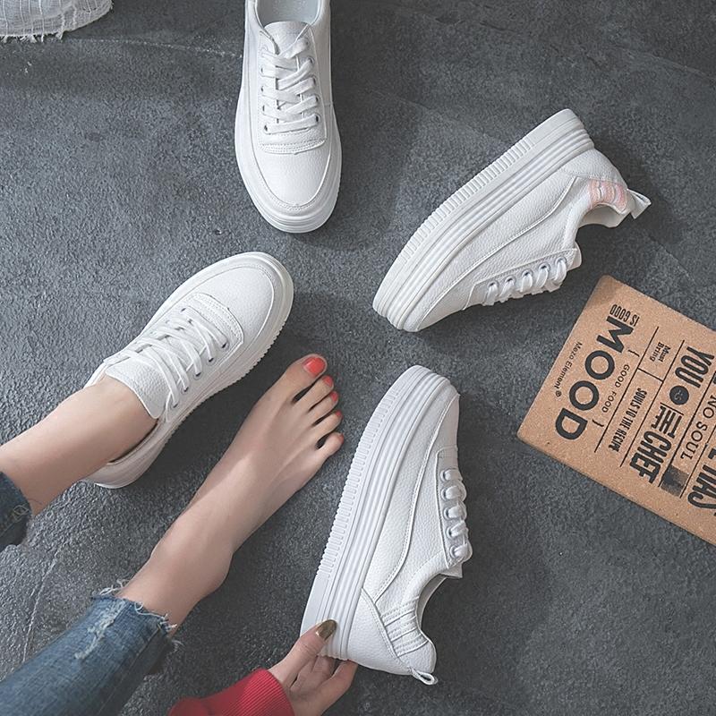 厚底小白鞋女内增高2018秋季新款百搭韩版休闲学生街拍平底板鞋女