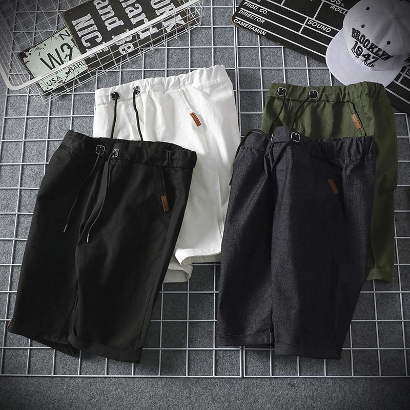 夏季男式五分裤男运动短裤夏天男休闲男士沙滩裤中裤潮宽松大码潮