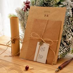 包邮手绘小鹿欧式复古小清新牛皮纸信封信纸套装 圣诞节情书信笺