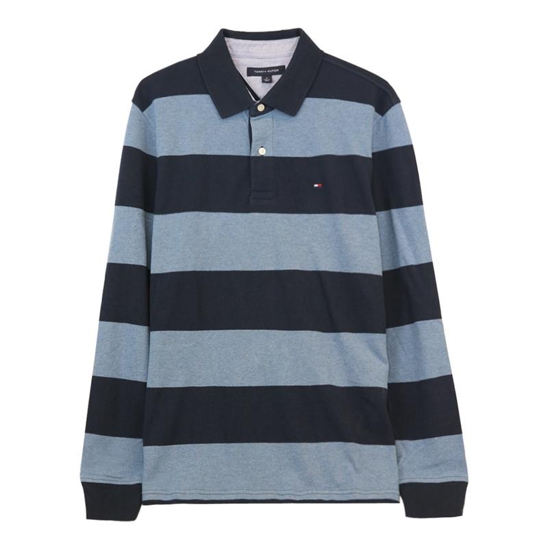Tommy/汤米・希尔费格 男士美式休闲长袖POLO衫7511970915
