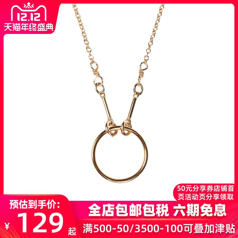 【直邮】DOGEARED朵吉尔 女士个性百搭圆环项链锁骨链KG1001-GD
