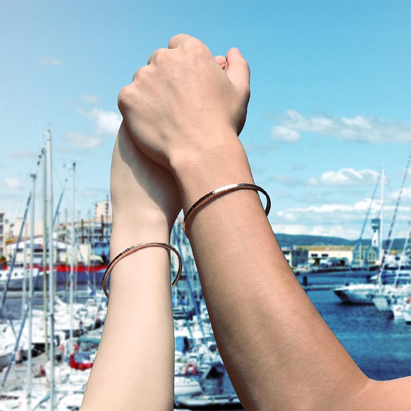 情侣手镯女男情侣款ck定制刻字情侣手环手链韩版一对情人节手镯dw图片