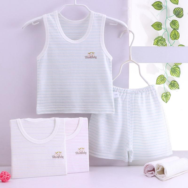 男童夏季套装宝宝夏装男潮0一1-3岁儿童装运动背心两件套女衣服
