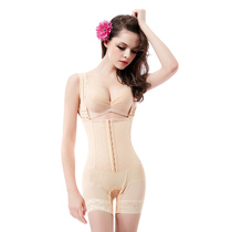 than thin postpartum plastic clothes female Xia strengthen version of the belly girdle waist lift buttock body plastic underwear conjoined corset clothing