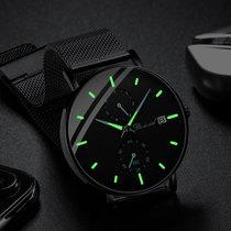 高中生学霸考试专用手表男潮流初中学生防水夜光男士手表国产腕表