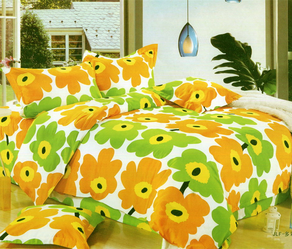 Pure cotton four piece quilt cover sheet pillow cover pure cotton bedding single double quilt cover student three piece set can be made to order