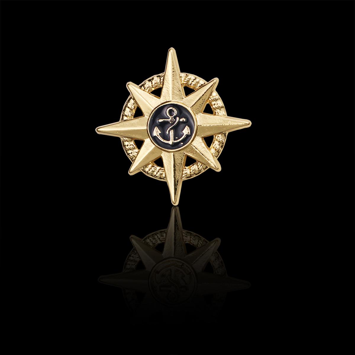 时尚新品胸针英伦学院风海军风金属星芒星光徽章胸章勋章 包邮券后9.90元