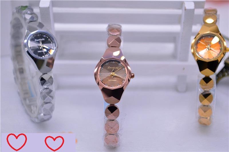 Korean Soddy tungsten steel womens bracelet watch fashion precision waterproof ultra Pu double button package