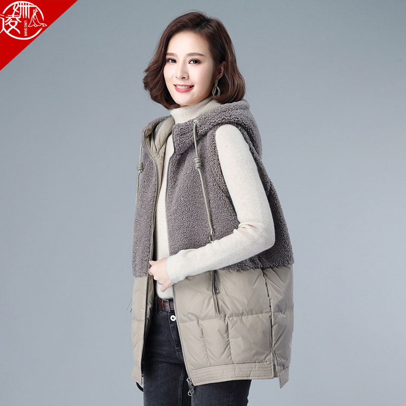 Down vest women's mid-length 2020 new mother vest waistcoat outer wear autumn and winter all-match vest jacket women