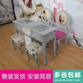 美甲桌椅套装新款美甲桌 单人双人美甲台工作台美甲店铺
