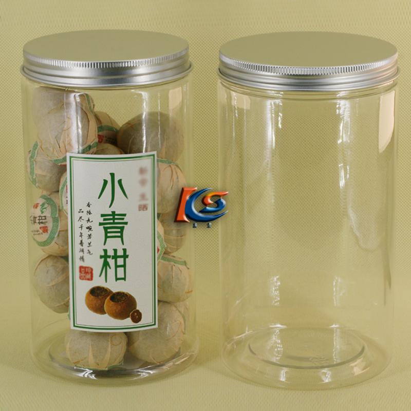 小青柑包装瓶 透明塑料罐大密封罐茶叶罐葡萄干瓶WJ10-7 L1018-60