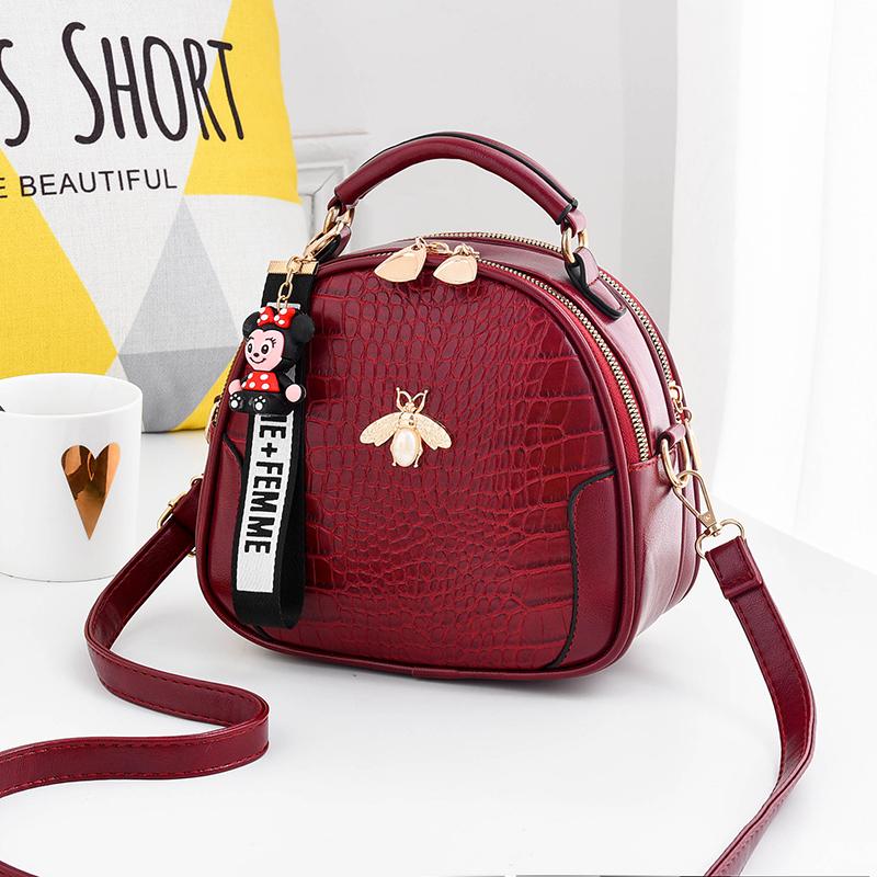 2021 spring new womens bag fashion crocodile pattern portable single shoulder bag little bee personality versatile messenger bag