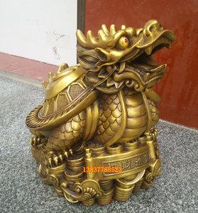 传神工艺风水铜雕摆件铜龙龟八卦龙头龙龟金钱龟定做纯铜家居摆设