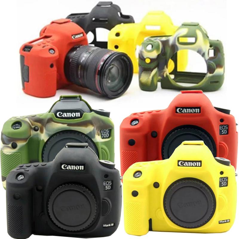 佳能6D2 6D 5D3 5DS5DR 80D 5D4 800D1300D硅胶套单反保护相机套