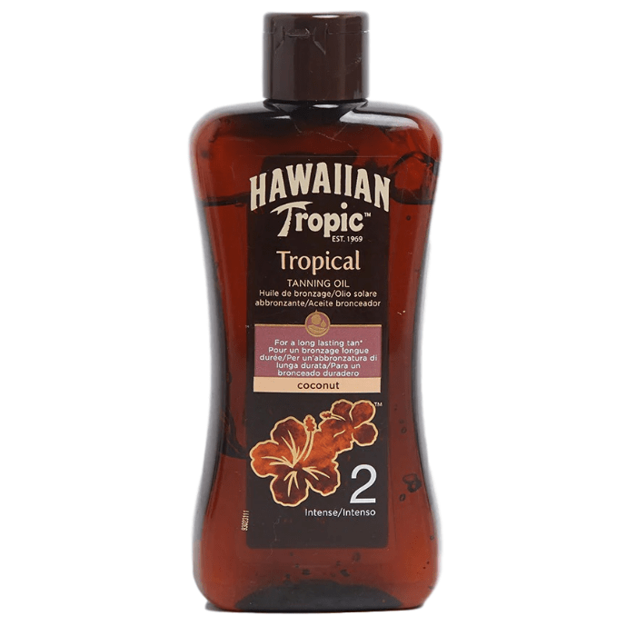 英国Hawaiian Tropic 夏威夷 美黑油 古铜色小麦色 黑鬼油