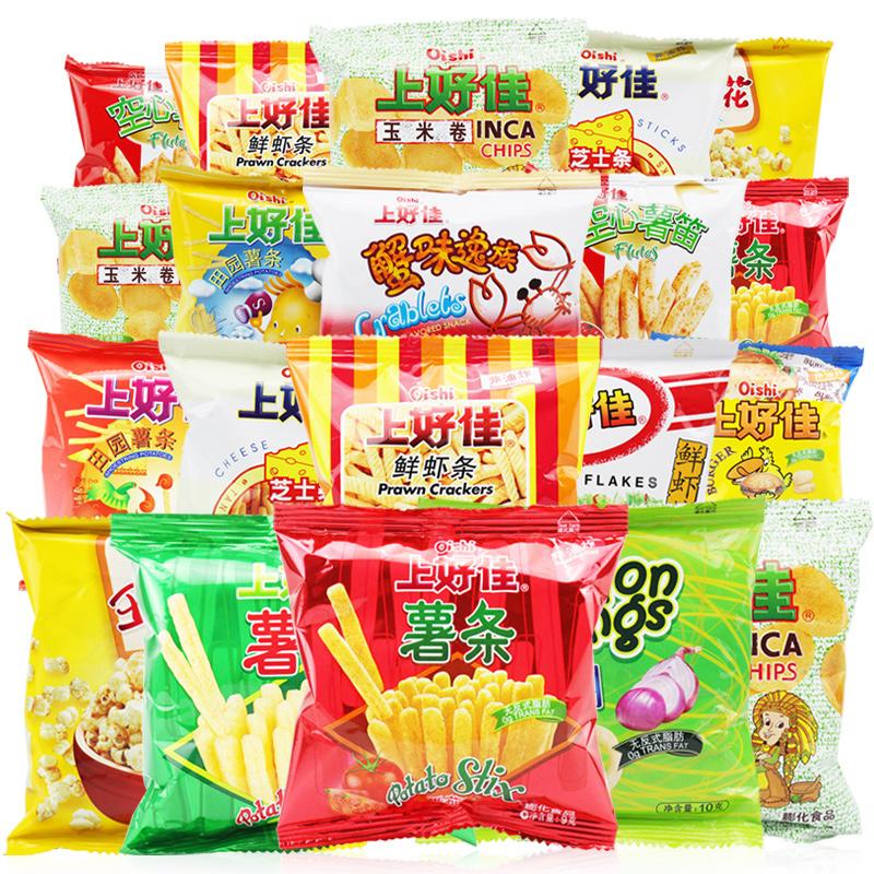 上好佳零食品蝦條 膨化零食生日 送女友六一兒童節大禮包