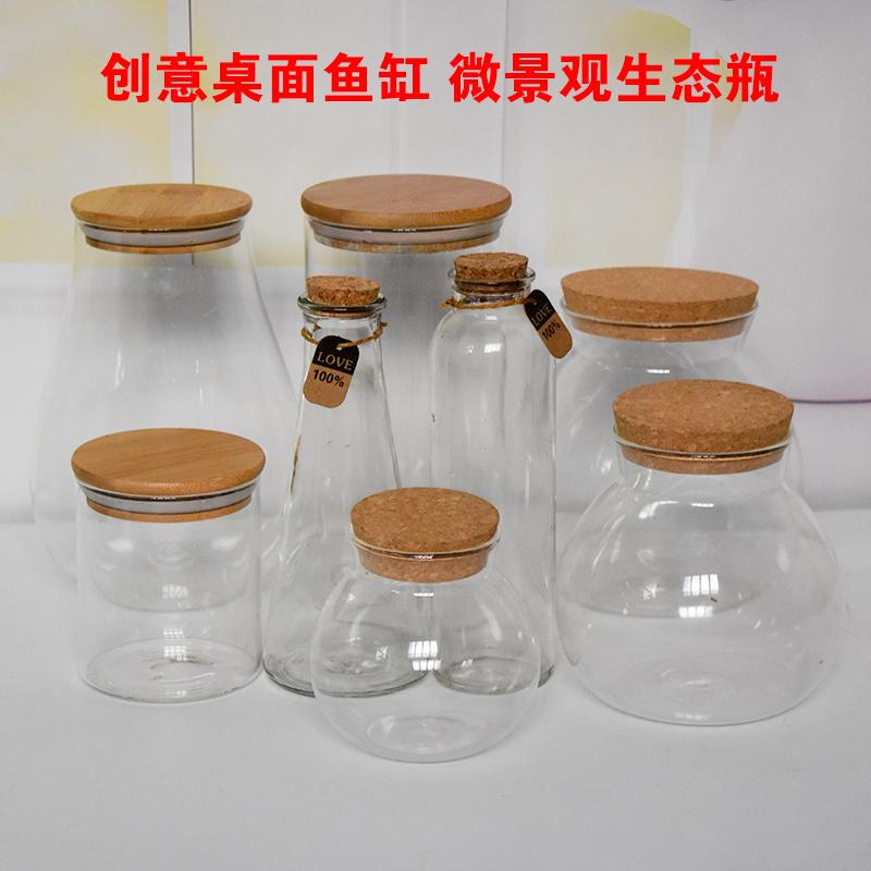 创意鱼缸生态球玻璃小型空瓶DIY搭配微景观造景装饰迷你桌面摆件