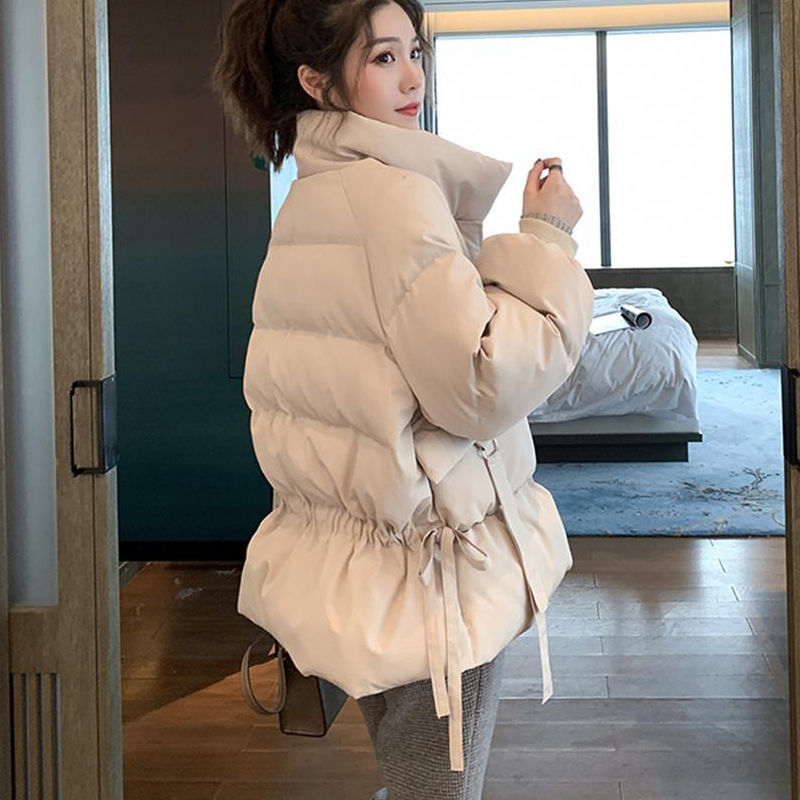 Off season down cotton padded jacket womens short Korean loose winter coat student cotton padded jacket 2020 new womens wear