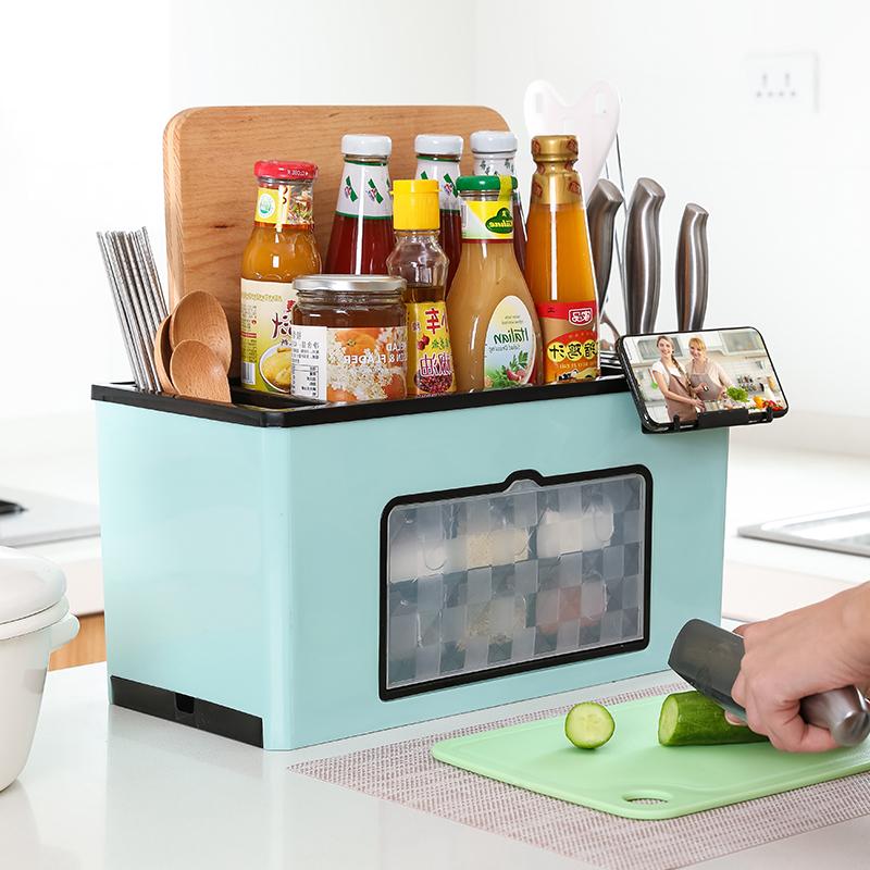 49.80元包邮创意多功能调料盒厨房置物架调料瓶收纳架调味品收纳盒调味罐套装