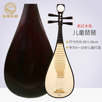 Lok Hai T901 children pipa flower Open and rich beginners start practice exam grade pipa old mahogany color