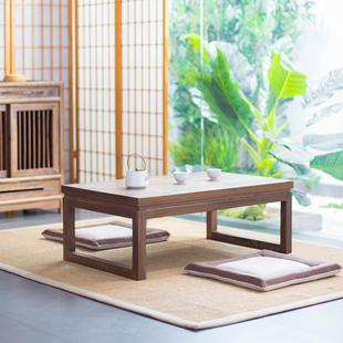 乐朴老榆木榻榻米茶几实木飘窗桌子小茶几日式矮桌子炕桌榻榻米桌