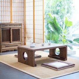 乐朴实木榻榻米茶几新中式飘窗桌国学桌日式茶几阳台桌简约炕琴桌