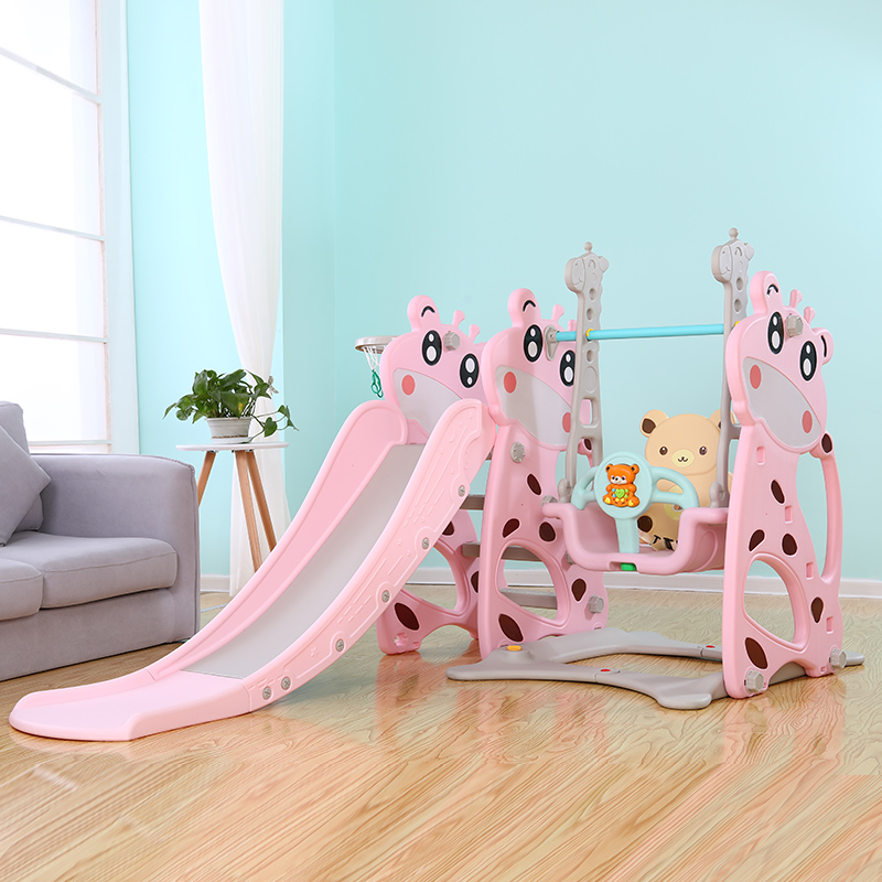 �和�室�然�梯秋千�M合小型家用游��@�����胗��@家庭滑滑梯玩具