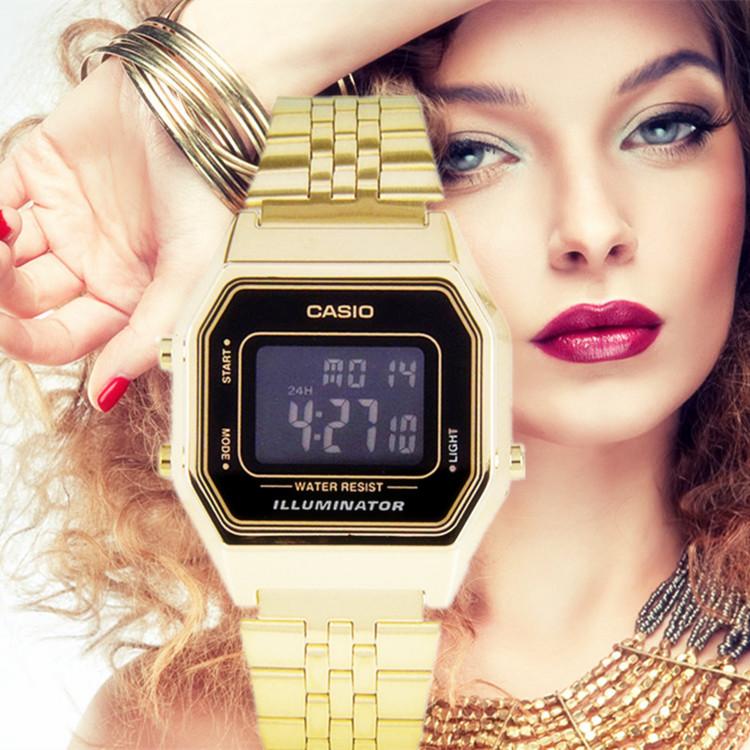 カシオブロック運動学生電子腕時計LA 680 WGA-1 B/LA 670 WGA/WA-1/9