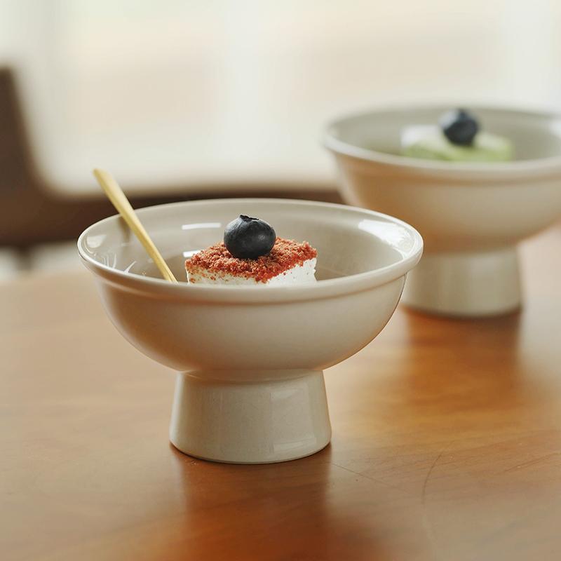 日式甜品碗陶瓷饭碗创意高脚碗冰激凌杯家用酱料碗调料碗甜品餐具限4000张券