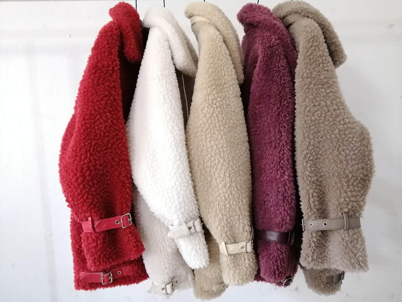 Off season 2020 new sheep shearing coat womens long grain fur fur one lamb fur grass coat 001