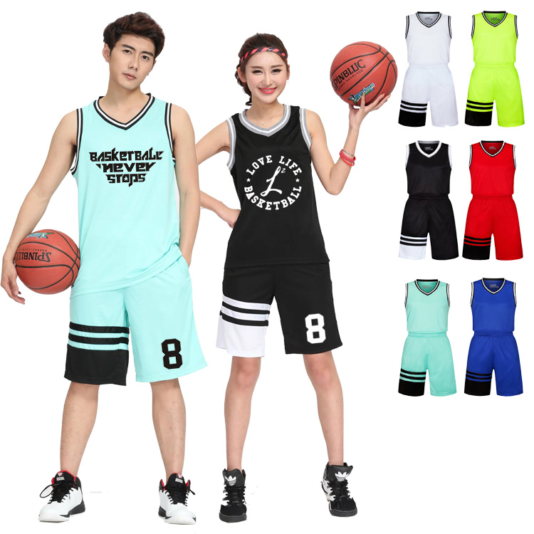 Autumn competition training sports basketball suit mens and womens suit custom DIY custom printable number logo team name