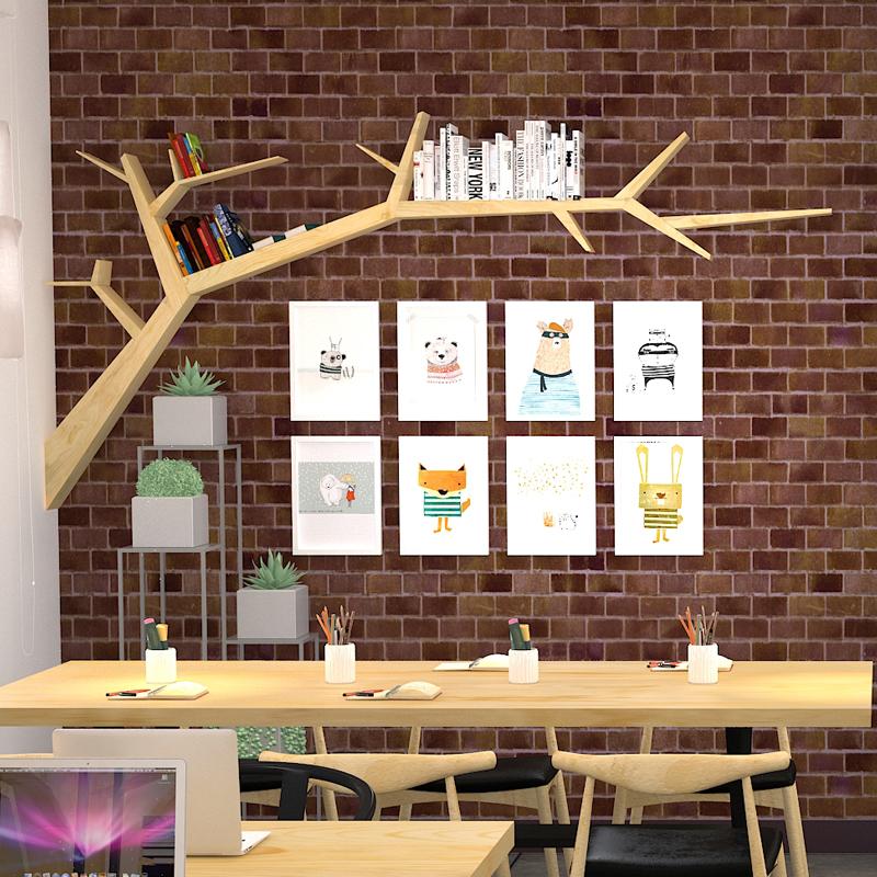 电视墙装饰架实木挂墙客厅沙发书架满576.00元可用288元优惠券