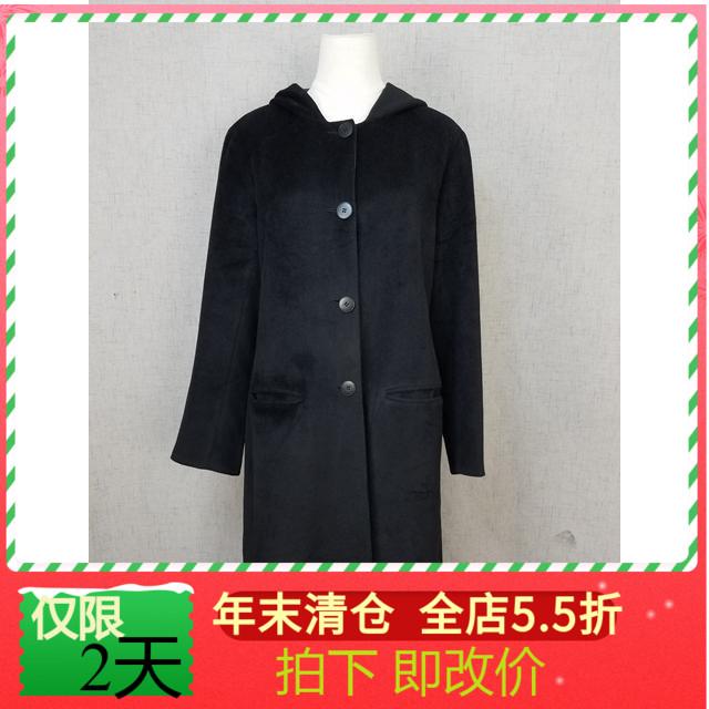 Ancient Japanese Agnes womens slim cashmere wool blend coat belt cap casual coat r1428