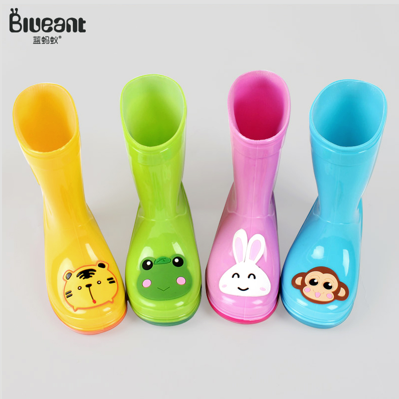 Blue Ant Children's Rainfall Shoes, Rainfall Boots, Boys and Girls'and Children's Babies' Fashion Rainfall Shoes, Anti-skid Fashion Water Shoes