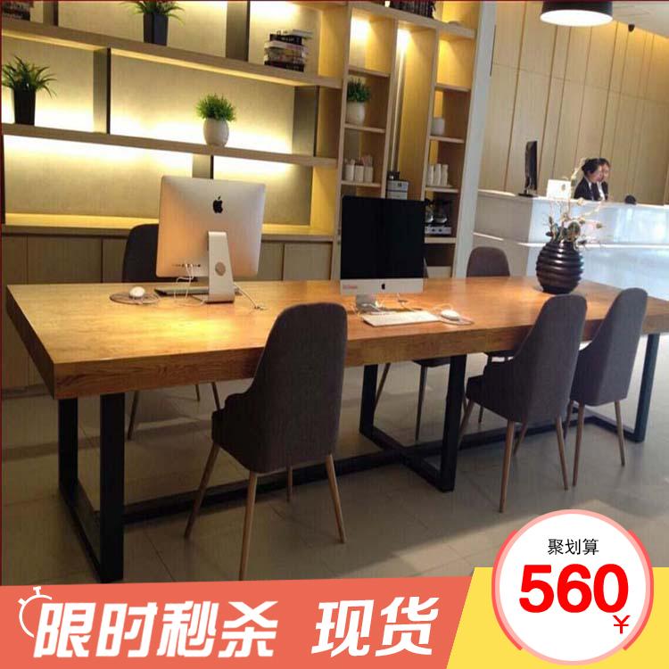 Стол для совещаний на дереве из нержавеющей стали полосатый Таблица представлена поколение Простая рабочая столовая и стул