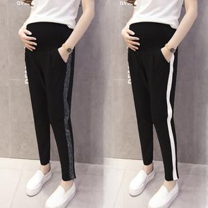 孕妇装裤子春装新款时尚托腹裤子春季外穿休闲运动裤孕妇打底裤春