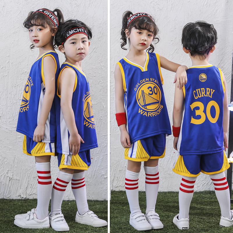 儿童篮球服套装男女夏季幼儿园库里30号球衣表演服班大童中小学生11-15新券
