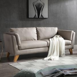 北欧三人皮沙发客厅组合现代简约小户型省空间双人沙发整装家具图片